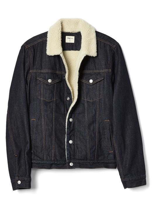 Sherpa astarlı denim ceket