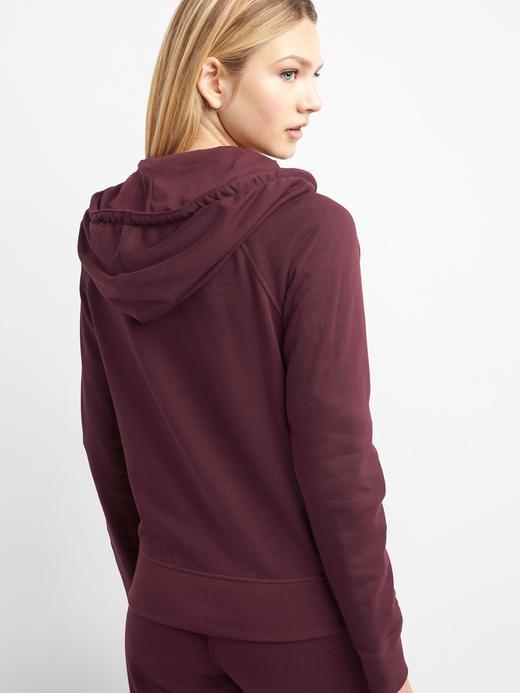 Kadın kırçıllı koyu gri Logolu kapüşonlu sweatshirt