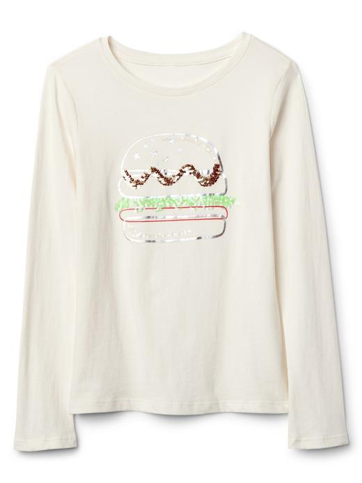 Pullu desenli uzun kollu t-shirt