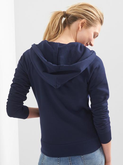 Kadın Beyaz Gap Logo Kapüşonlu Sweatshirt