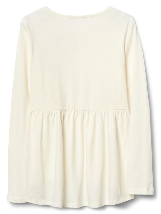 Kız Çocuk renkli İşlemeli uzun kollu t-shirt