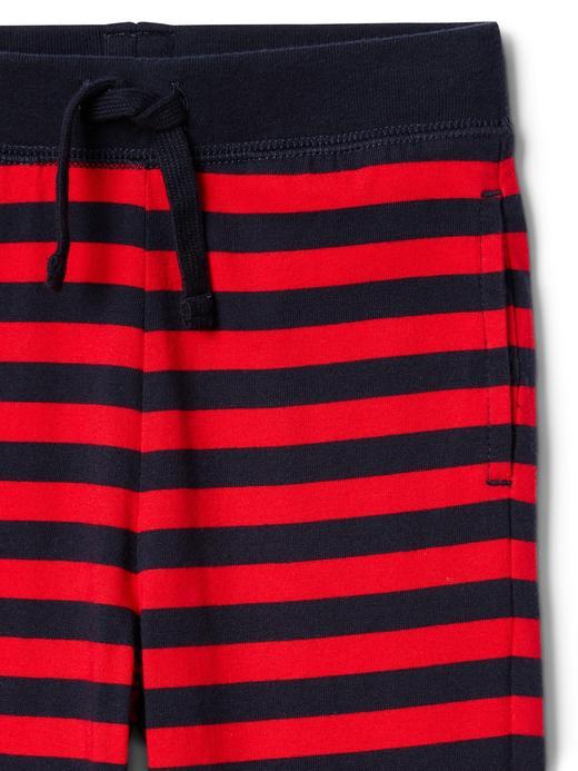 kırmızı mavi çizgili Çizgili pantolon