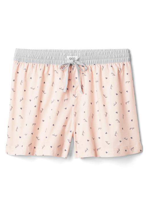 Poplin desenli pijama şort