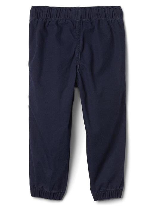 Bebek lacivert Kanvas jogger pantolon