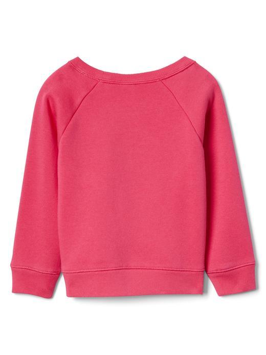 Logolu reglan kollu sıfır yaka sweatshirt