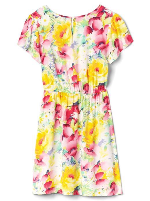 Desenli kısa kollu elbise