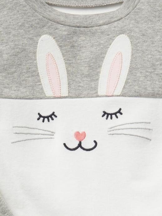 gri Tavşan desenli pijama takımı