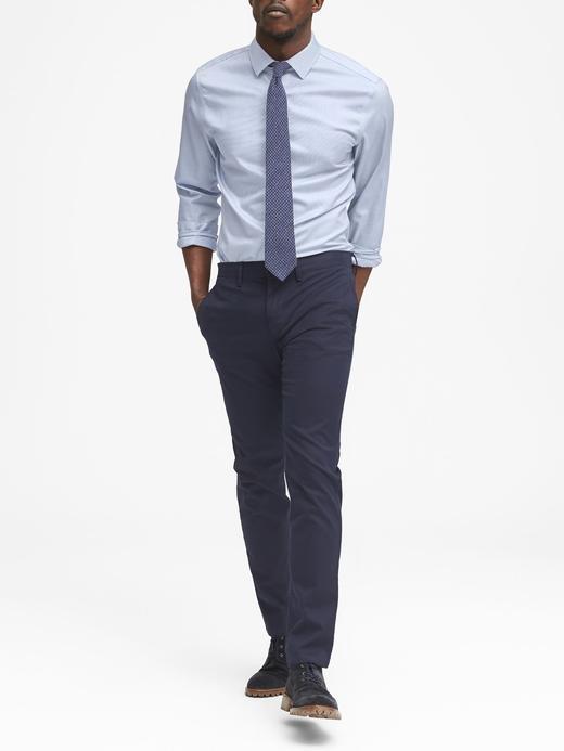 Grant Slim-Fit Ütü Gerektirmeyen Streç Gömlek