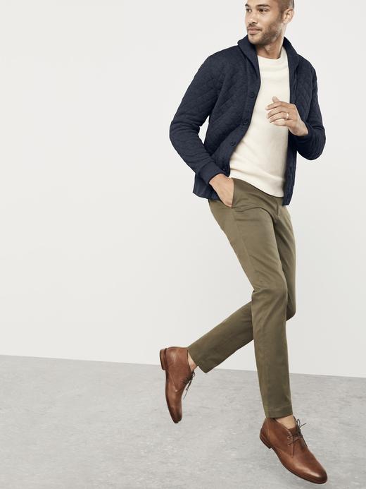 Erkek BURGUNDY Aiden Slim Fit Chino Pantolon