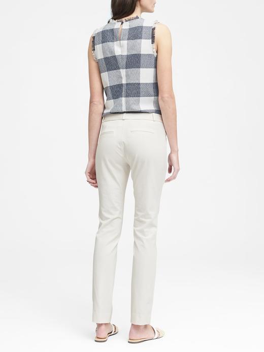 Kadın Beyaz Sloan Skinny-Fit Streç Pantolon