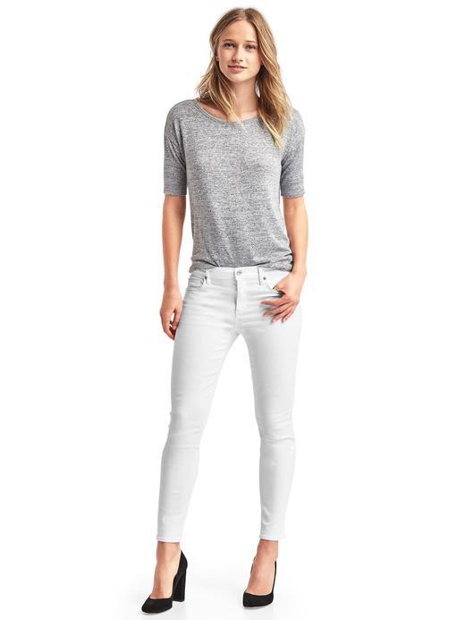 Kadın Beyaz True Skinny jean pantolon