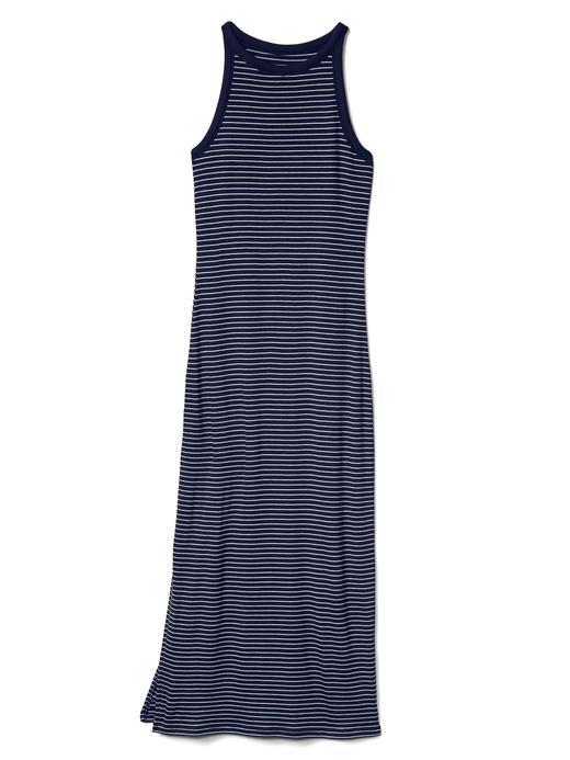 Çizgili maksi elbise