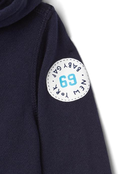 Logolu fermuarlı sweatshirt
