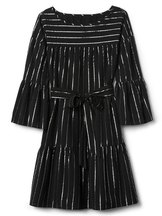 Çizgili uzun kollu elbise