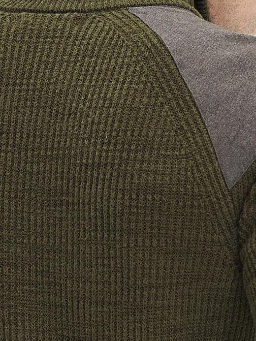 Erkek parlak yeşil Nervürlü Fermuarlı Kazak Ceket