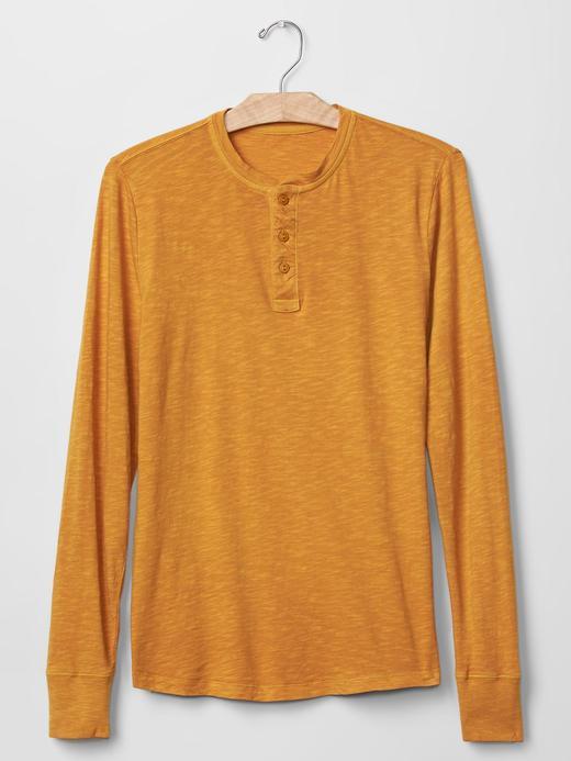 Lived-in henley uzun kollu t-shirt