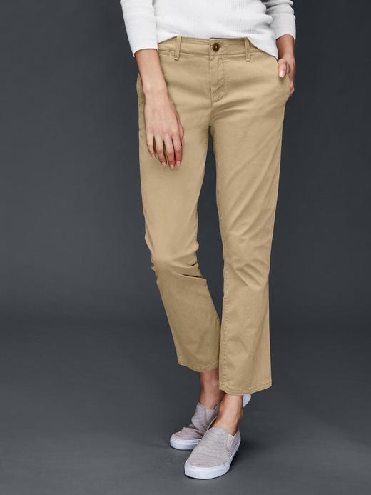 Kadın bej Bilekte biten pantolon