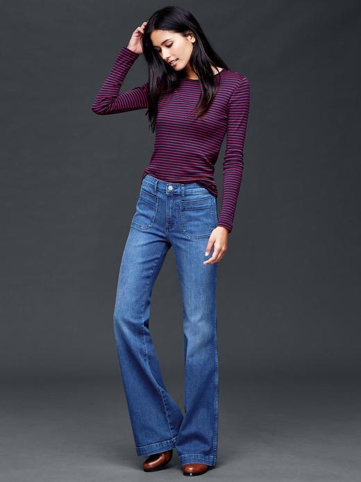 orta indigo Authentic 1969 patch pocket flare jean