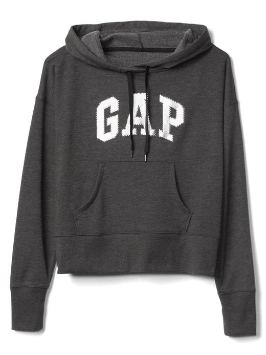 Logolu kapüşonlu sweatshirt