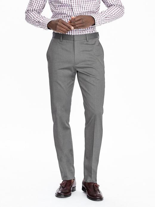 Ütü gerektirmeyen Slim pantolon
