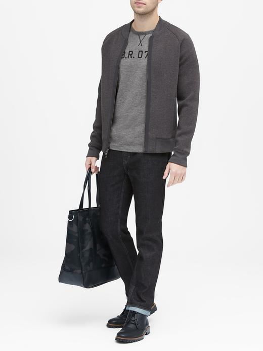 siyah BR Grafik Desenli Sıfır Yaka T-Shirt