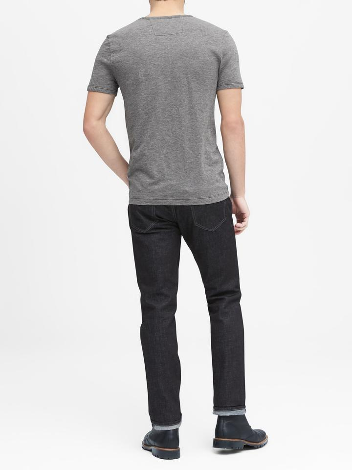 BR Grafik Desenli Sıfır Yaka T-Shirt