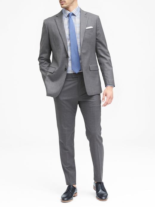Erkek açık mavi Camden Standard-Fit Ütü Gerektirmeyen Streç Ekose Gömlek
