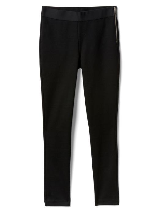 Kadın kırçıllı koyu gri Skinny legging pantolon