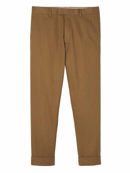 Erkek kahverengi Katlanmış Paçalı Pantolon