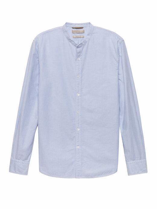 Heritage Grant Slim-Fit Pamuklu Streç Çizgili Gömlek