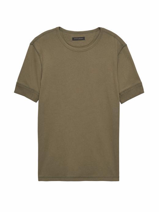 Heritage Sıfır Yaka Kısa Kollu T-Shirt