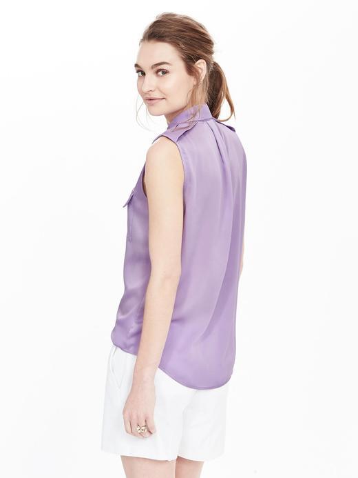 Kadın krem Kolsuz Gömlek
