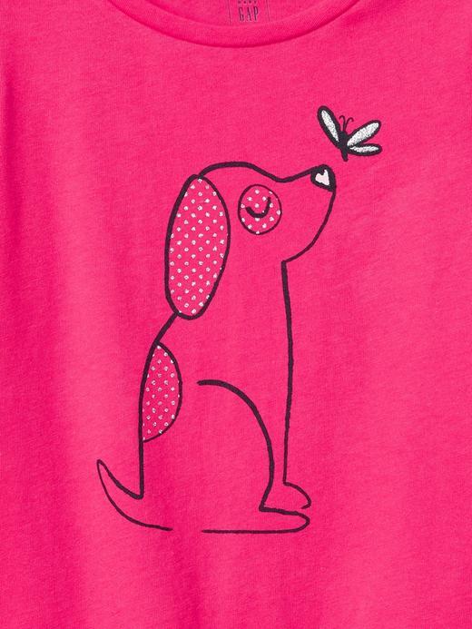 Bebek pembe Grafik desenli kısa kollu t-shirt