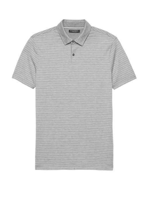 Luxury-Touch Çizgili Polo T-Shirt