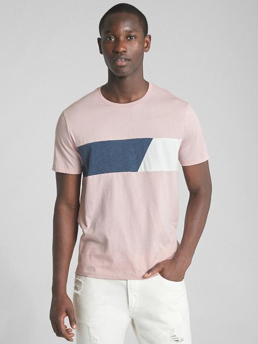 Kısa kollu sıfır kollu çizgili sıfır yaka t-shirt