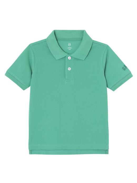 Logolu kısa kollu polo t-shirt