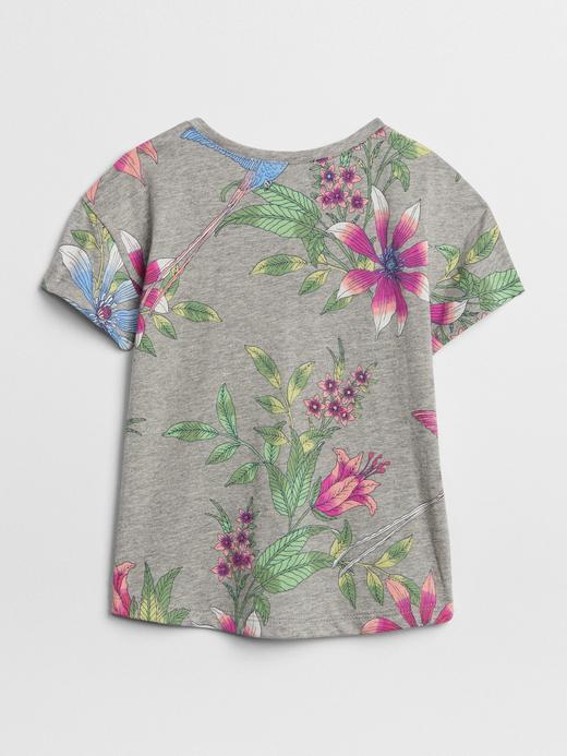 kırçıllı gri Logolu Desenli T-Shirt