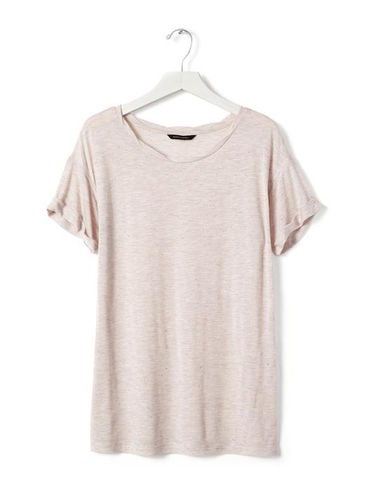 Kıvrık kollu t-shirt