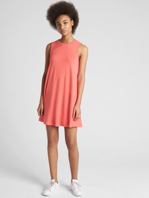 Kadın gri Softspun kolsuz elbise