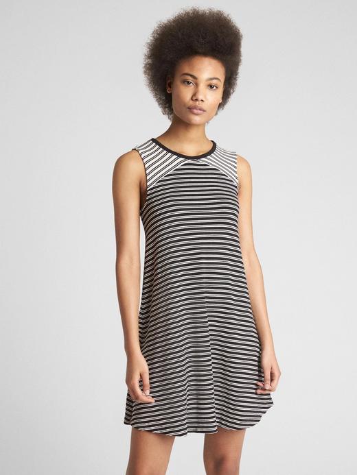Kadın Siyah Softspun kolsuz elbise