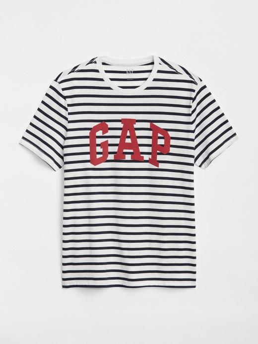 Logolu kısa kollu sıfır yaka t-shirt