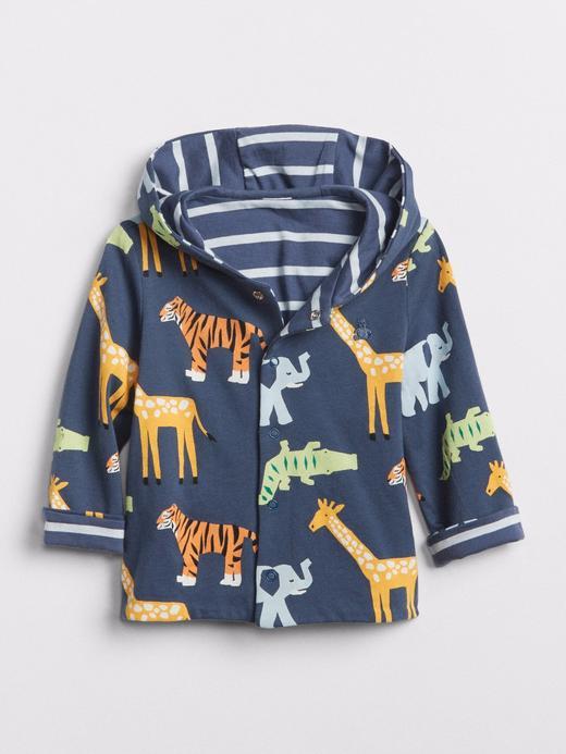 Çift taraflı kapüşonlu sweatshirt