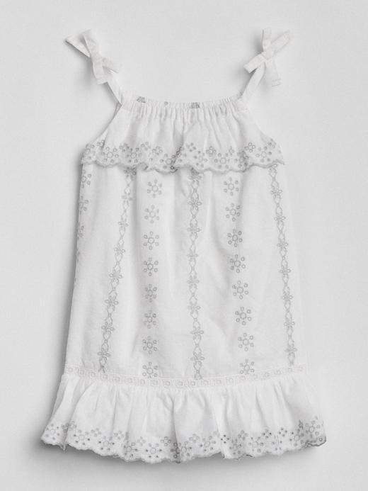 Askılı fırfırlı elbise
