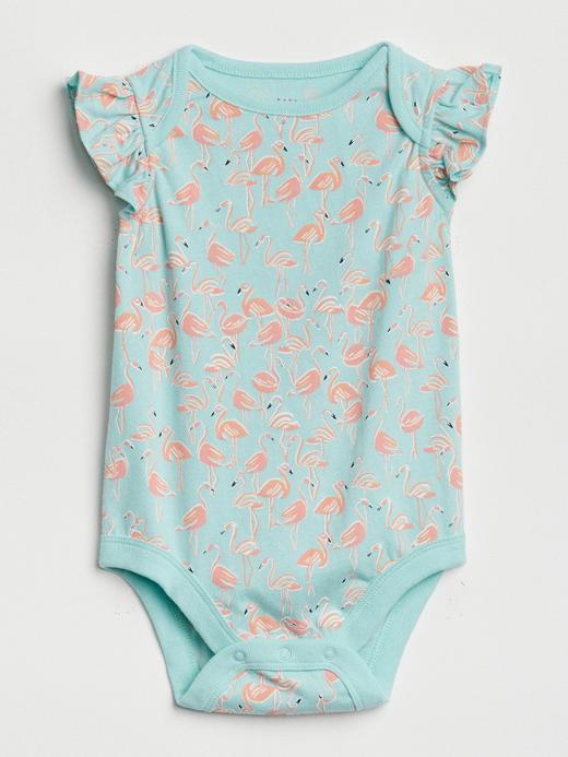 Bebek Yeşil Fırfırlı desenli body