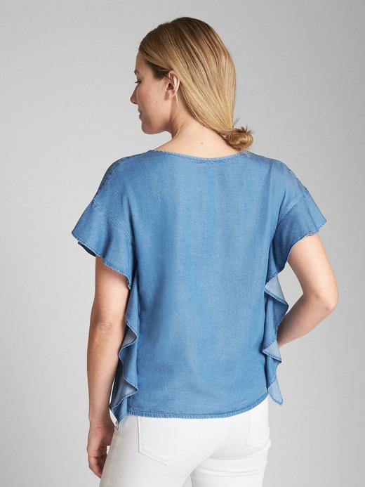 Fırfırlı Tencel™ Bluz