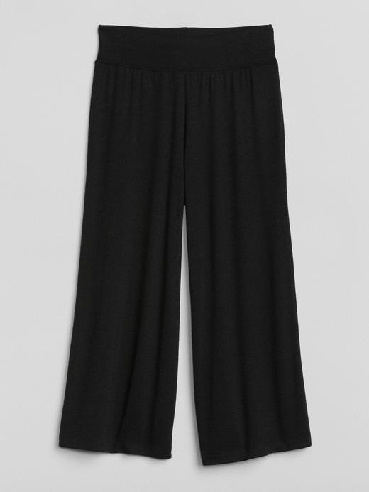 Softspun kısa bol paça pantolon