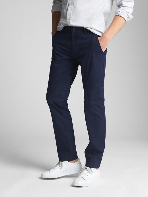 Erkek lacivert Slim fit GapFlex pantolon