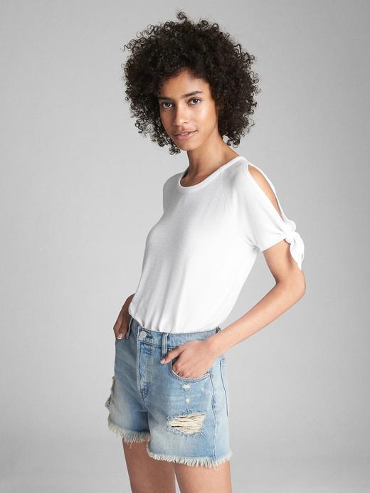 Softspun kolları bağlamalı t-shirt