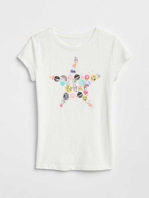 Metalik baskılı t-shirt