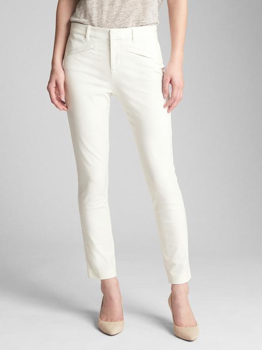 Kadın Beyaz Signature skinny pantolon